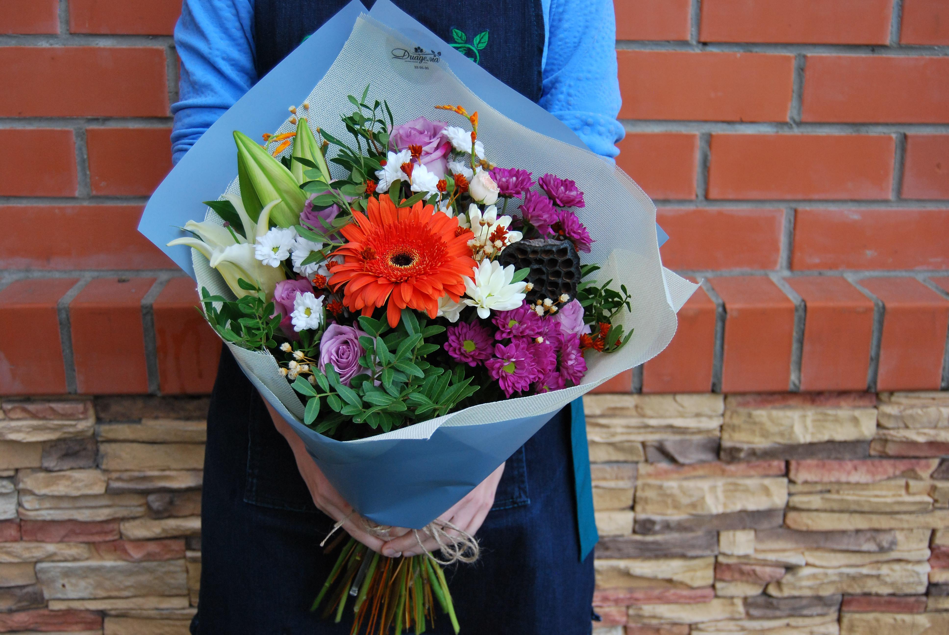Красивая сборка букетов, цветы